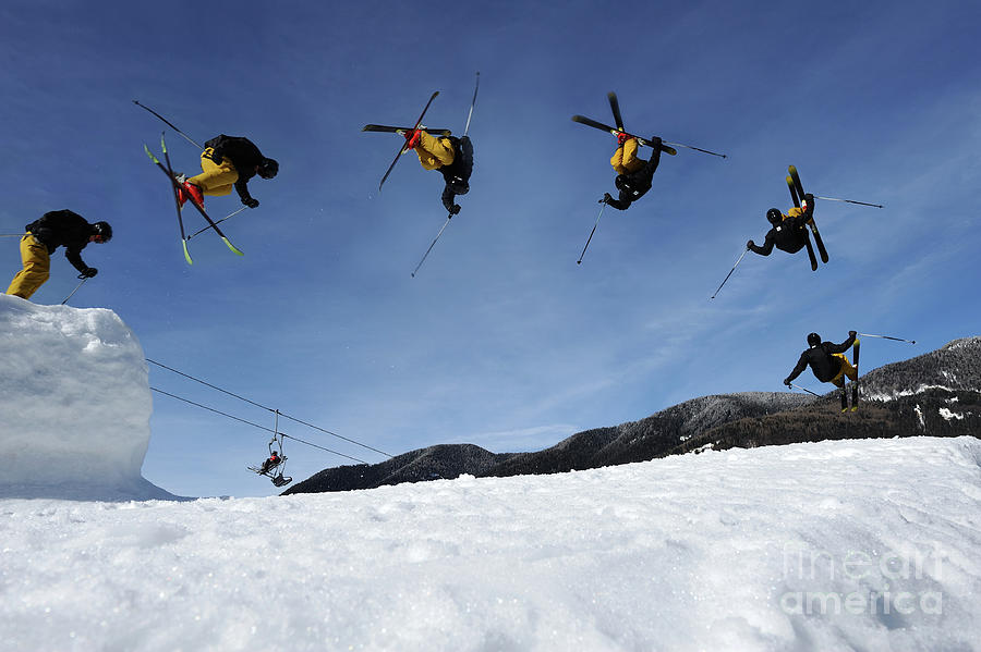 Multiple Image Of Free Style Skier Photograph by Technotr