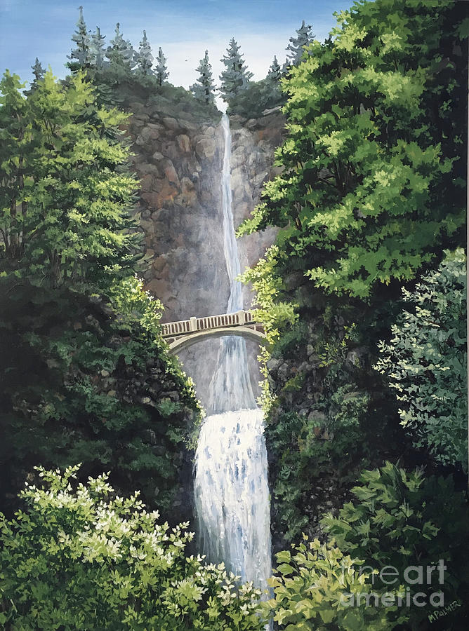 Multnomah Falls by Mary Palmer
