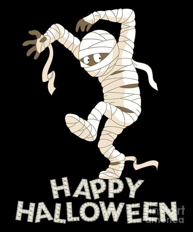 Mummy Scary And Spooky Happy Halloween Fun Graphic
