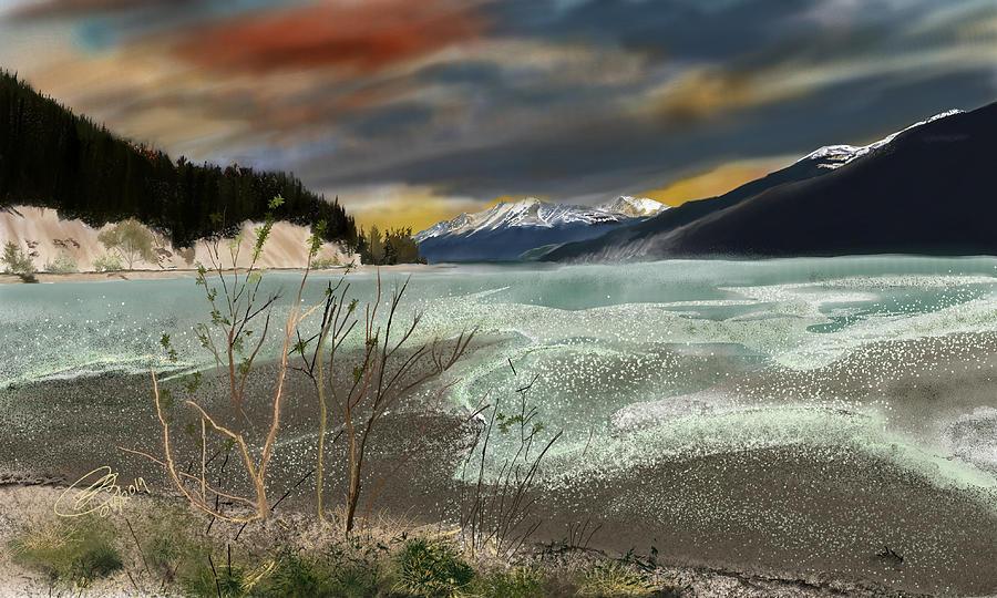 Muncho Lake Sunset by Joel Deutsch