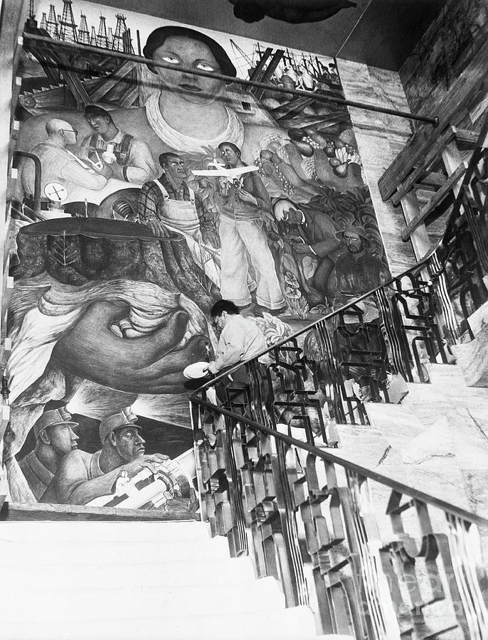Mural By Artist Diego Rivera Photograph by Bettmann