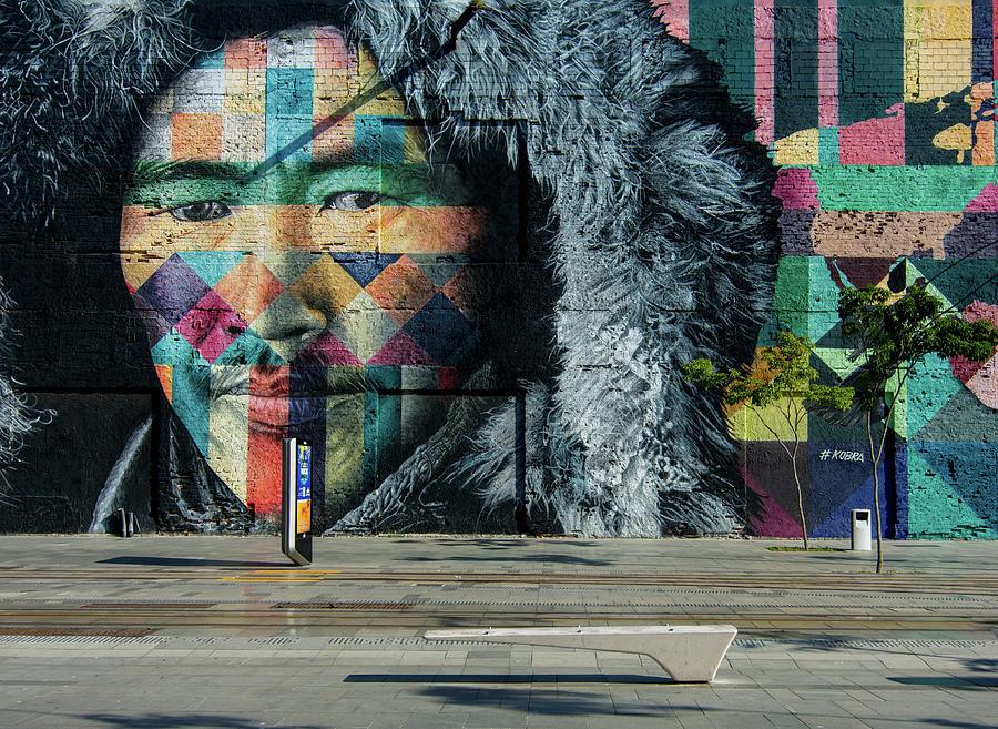 Mural Etnias in Rio de Janeiro by Alessandra RC