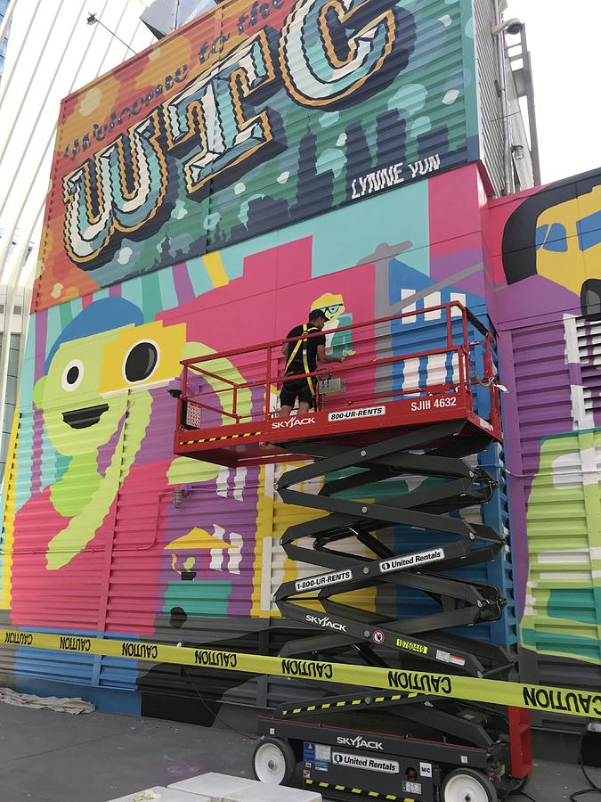 Mural Near the World Trade Center by Liza Beckerman