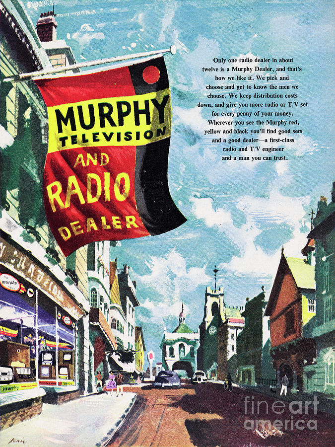 Murphy Television And Radio Dealer Photograph by Picture Post