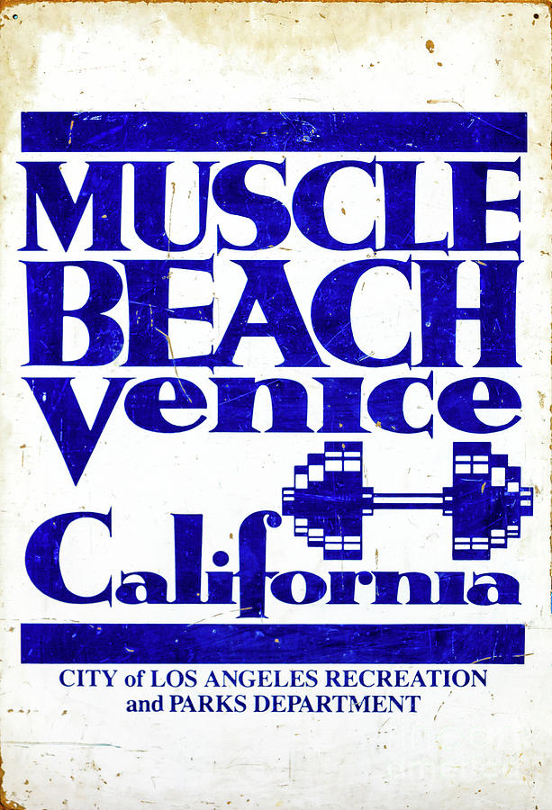 Muscle Beach Venice California by John Rizzuto
