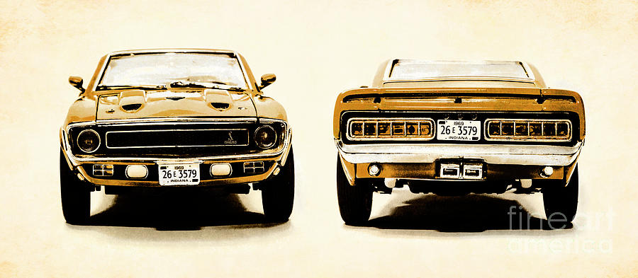 Retro Photograph - Muscle Machine by Jorgo Photography - Wall Art Gallery