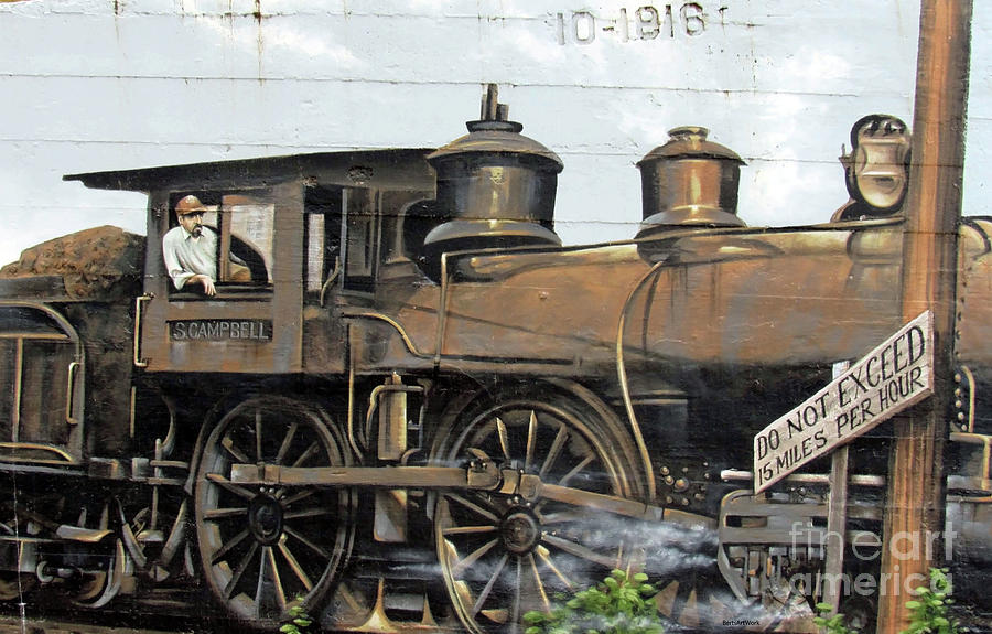Sheffield Railroad Mural by Roberta Byram