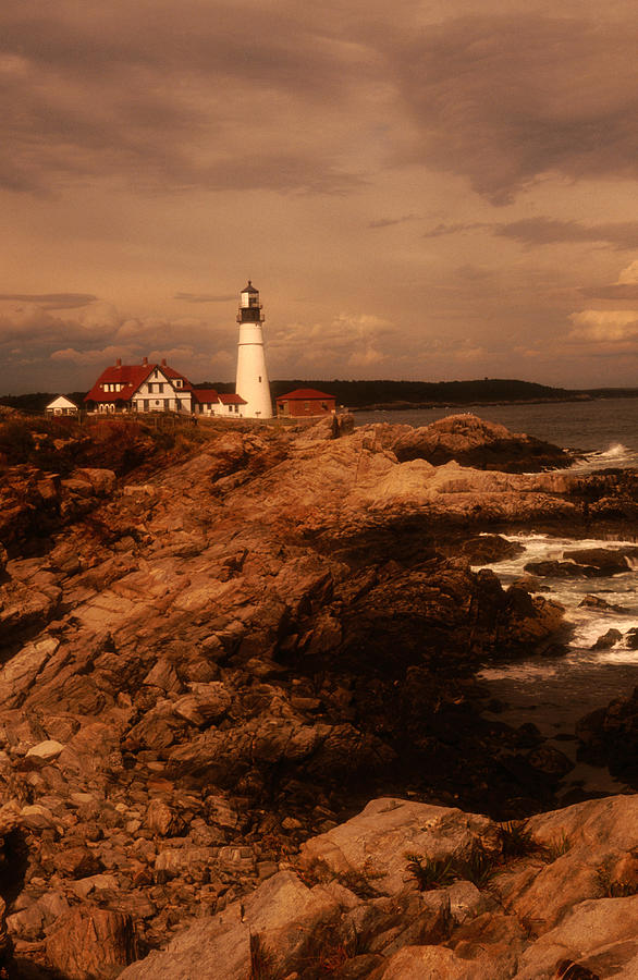 Museum And Portland Head Light House At Photograph by Mark  Newman