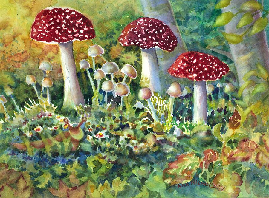 Mushroom and Visitor by Ann Nicholson