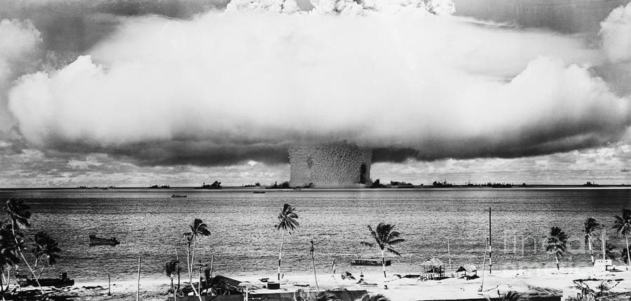 Mushroom Cloud Over The Bikini Atoll Photograph by Bettmann