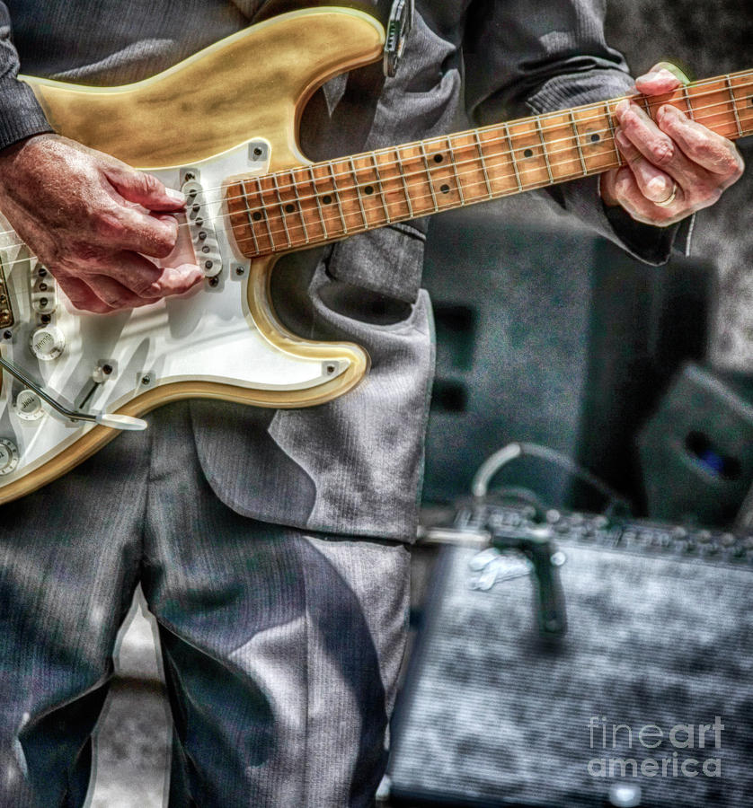 Music Photograph - Music By The Neck  by Steven Digman