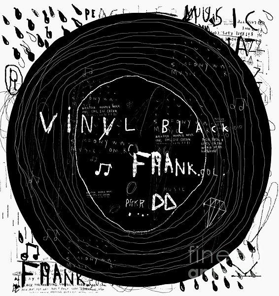 Retro Style Digital Art - Music Disc Old Sample by Dmitriip