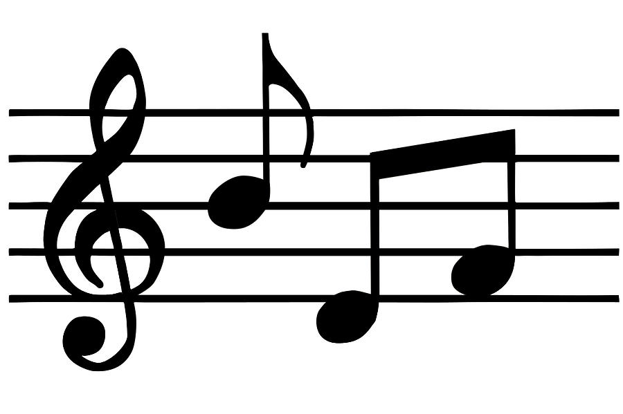 Music Notes In Black And White Digital Art by Comstock