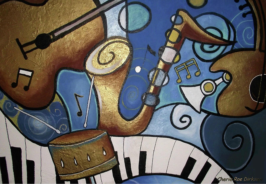 Music Painting - Musical Mural by Cherie Roe Dirksen