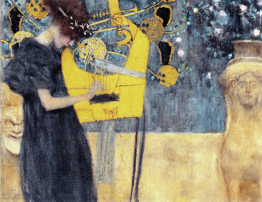 Gustav Klimt Painting - Musik1 - Digital Remastered Edition by Gustav Klimt
