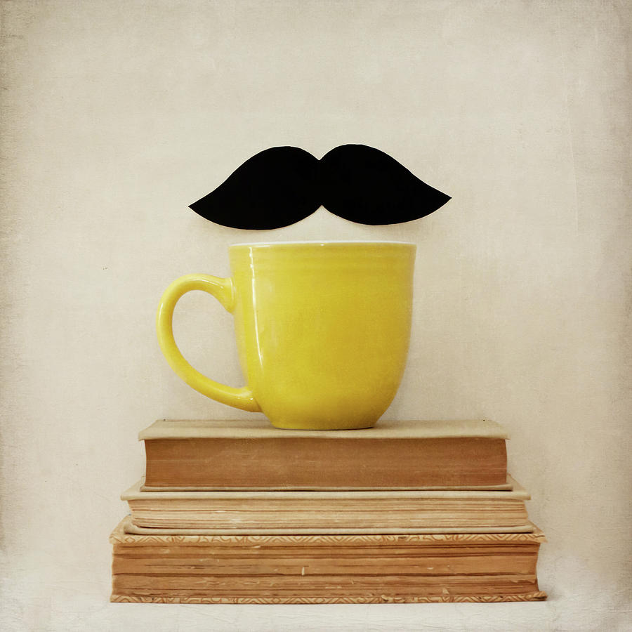 Mustache And Yellow Mug Photograph by Laura Ruth