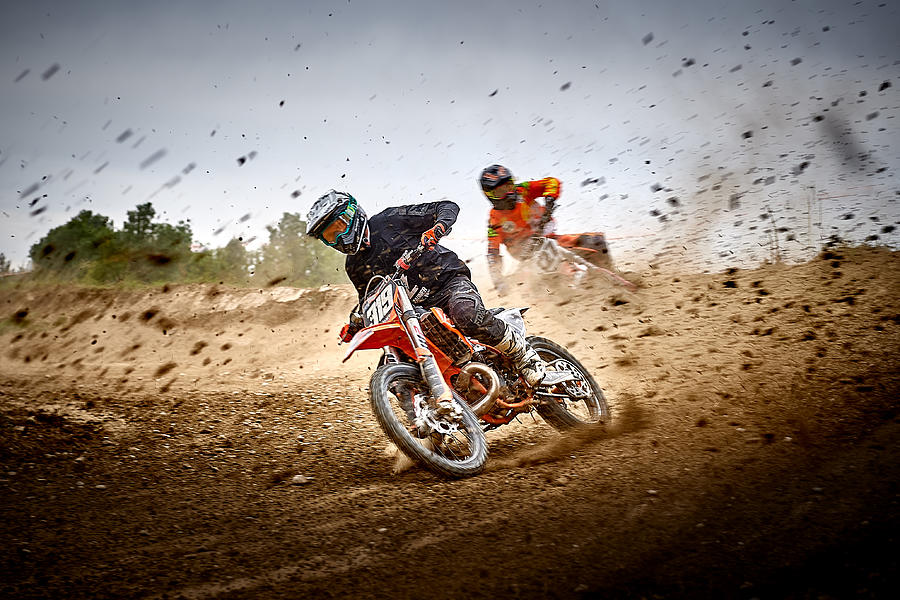 Action Photograph - Mx Race by Wolfgang Hackl