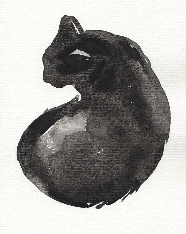 Animal Painting - My Black Cat by Judith Kunzle