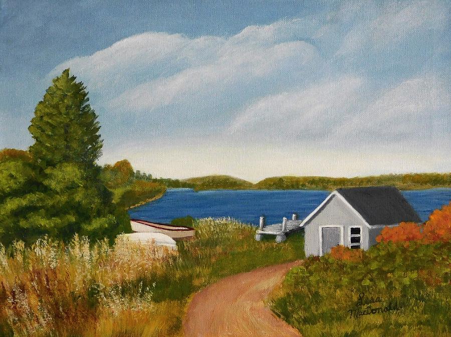 Acrylic Painting - My Dock by Lisa MacDonald