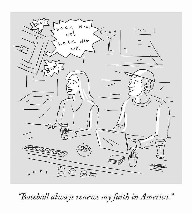 My Faith in America Drawing by Kim Warp