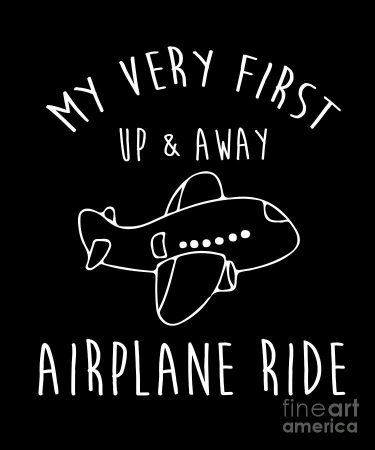 My First Airplane Ride Tshirt Cute First Time Flyers Kids By Noirty Designs