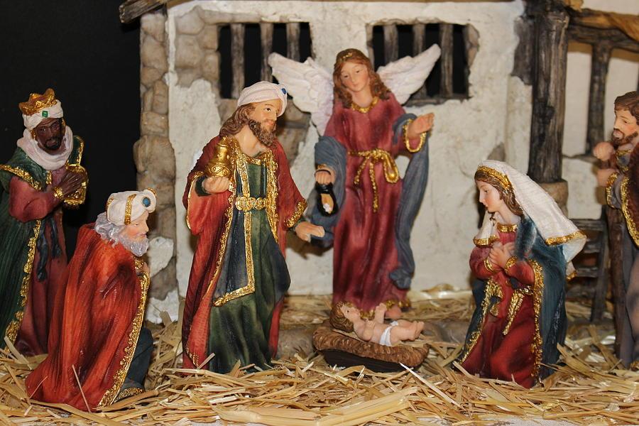 Christmas Nativity Scene Photograph - My German Traditions - Christmas Nativity Scene by Colleen Cornelius
