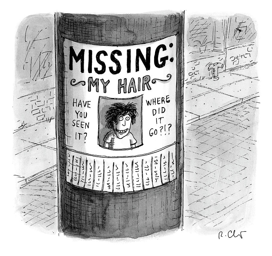 My Hair Drawing by Roz Chast