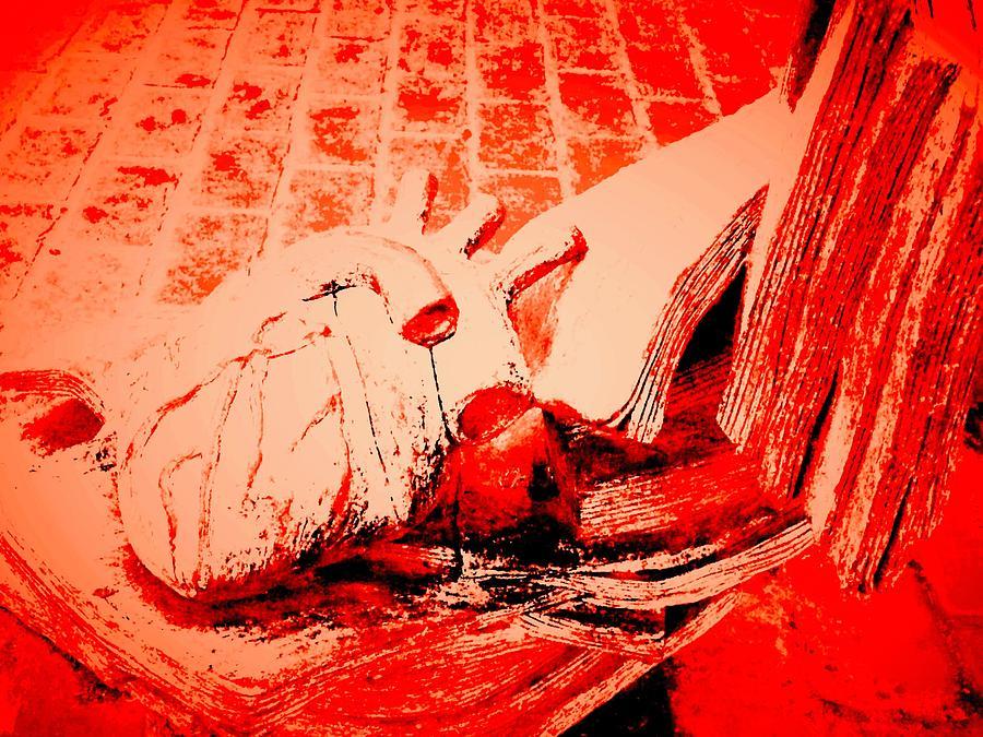 My heart bleeds on the canvass by Michael Oceanofwisdom Bidwell