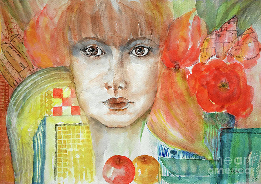 Portrait Painting - My Home by Jasna Dragun