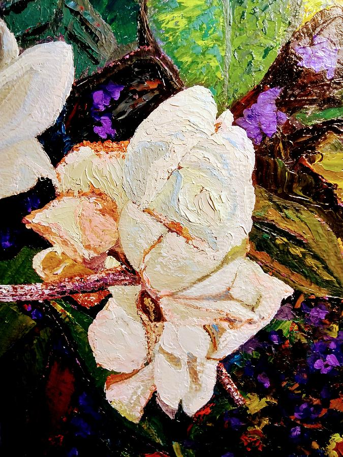 My impasto flowers by Ray Khalife