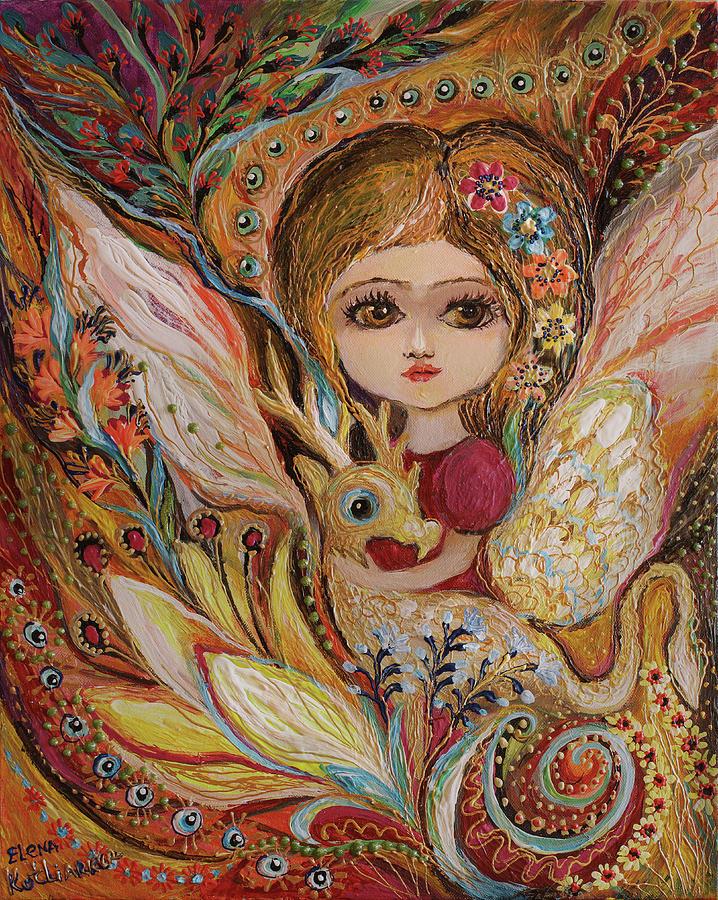 Fantasy Painting - My Little Fairy Selma by Elena Kotliarker