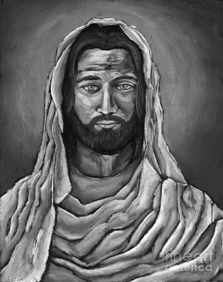 My Lord And Savior - Black and White by David Hinds
