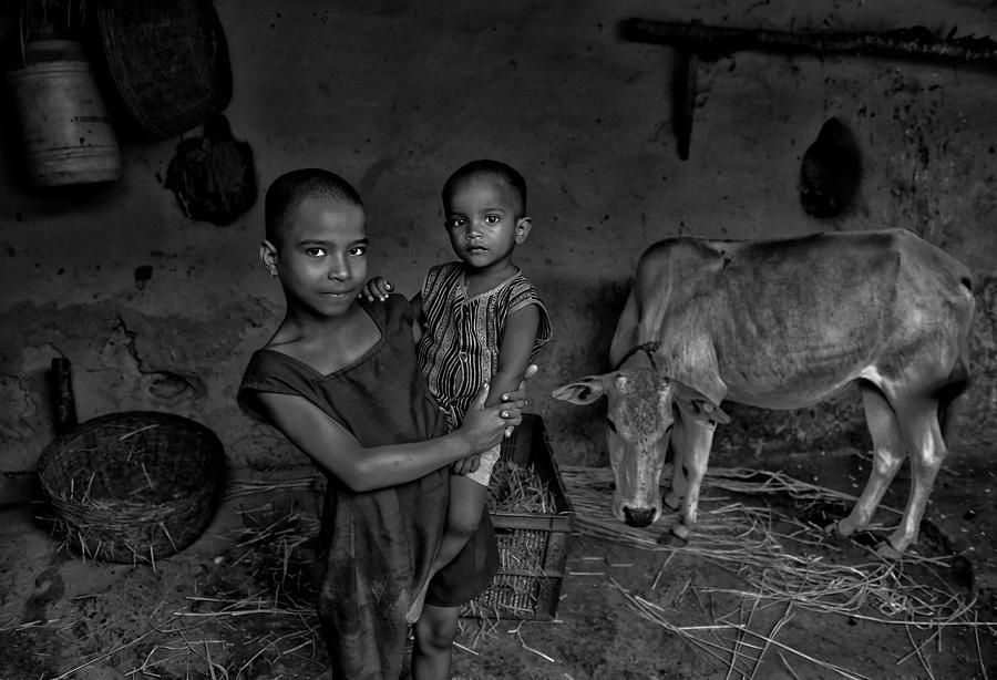 Child Photograph - My Playmates by Avishek Das