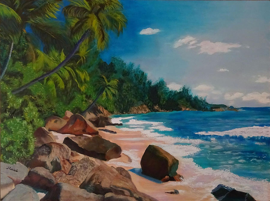 Landscape Painting - My Puerto Rico by Laura Gabel