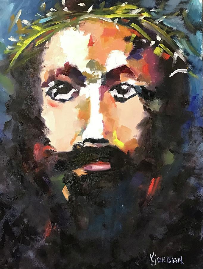 Jesus Painting - My Savior by Karen Jordan