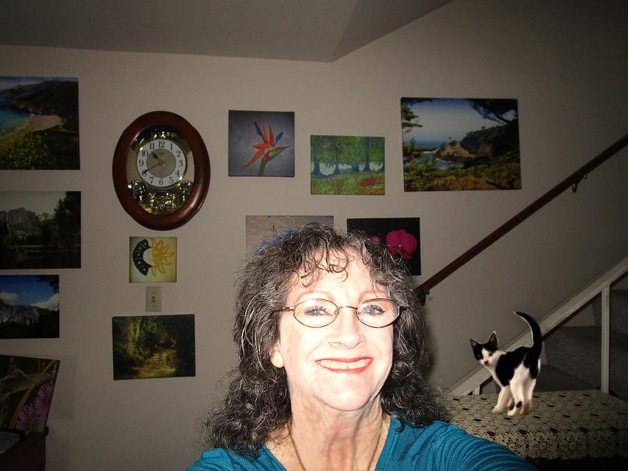 My Studio And Shasta by Joyce Dickens