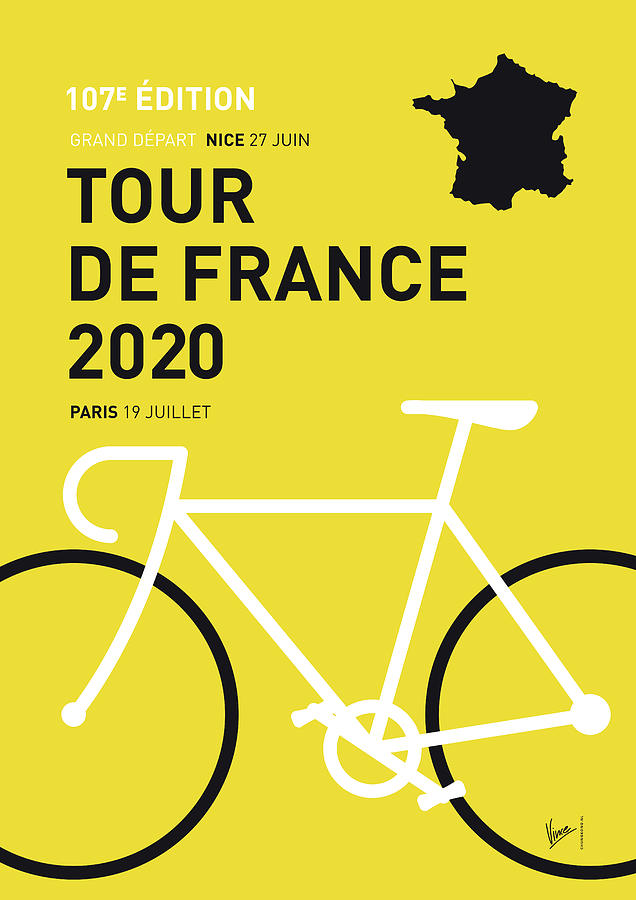 MY TOUR DE FRANCE MINIMAL POSTER 2020 by Chungkong Art