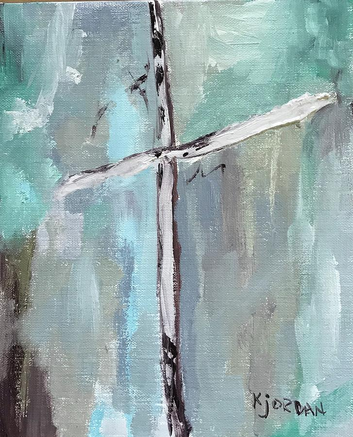 The Cross Painting - My Treasure by Karen Jordan