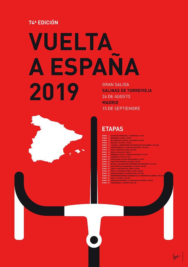 Alternative Digital Art - My Vuelta A Espana Minimal Poster 2019 by Chungkong Art