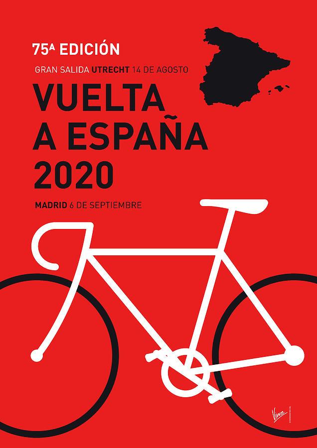MY VUELTA A ESPANA MINIMAL POSTER 2020 by Chungkong Art