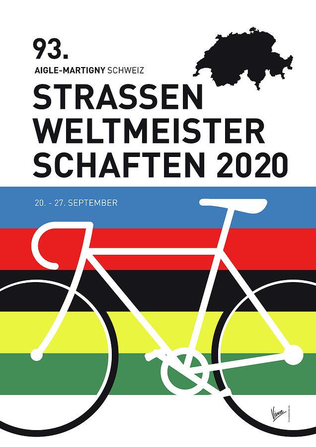 MY WORLD CHAMPIONSHIP PRO CYCLING MINIMAL POSTER 2020 by Chungkong Art