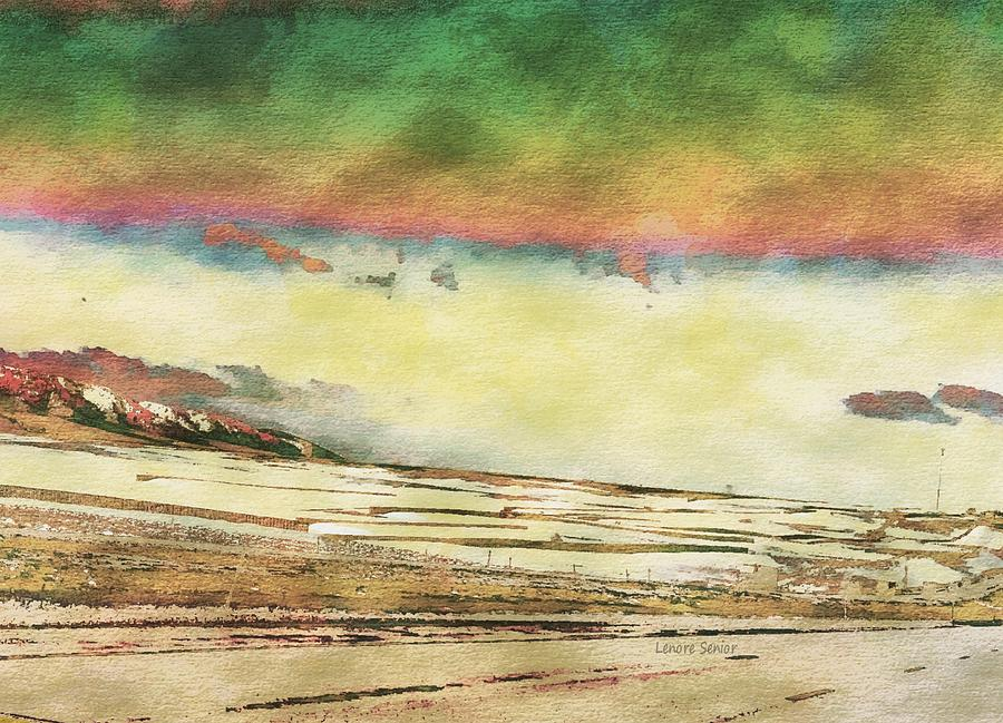 Abstract Mixed Media - My Wyoming by Lenore Senior