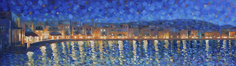 Mykonos Painting - Mykonos Lights by Rob Buntin