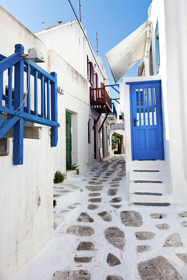 Mykonos, Picturesque Street Photograph by Phooey