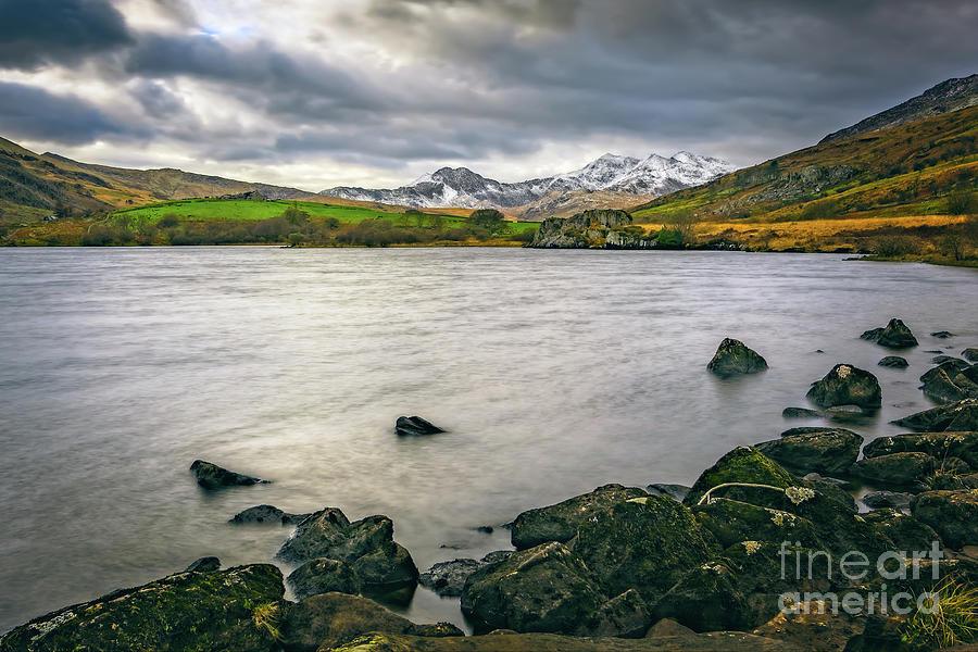 Mymbyr lake Snowdonia  by Adrian Evans