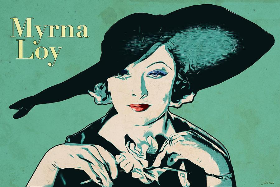 Myrna Loy Digital Art