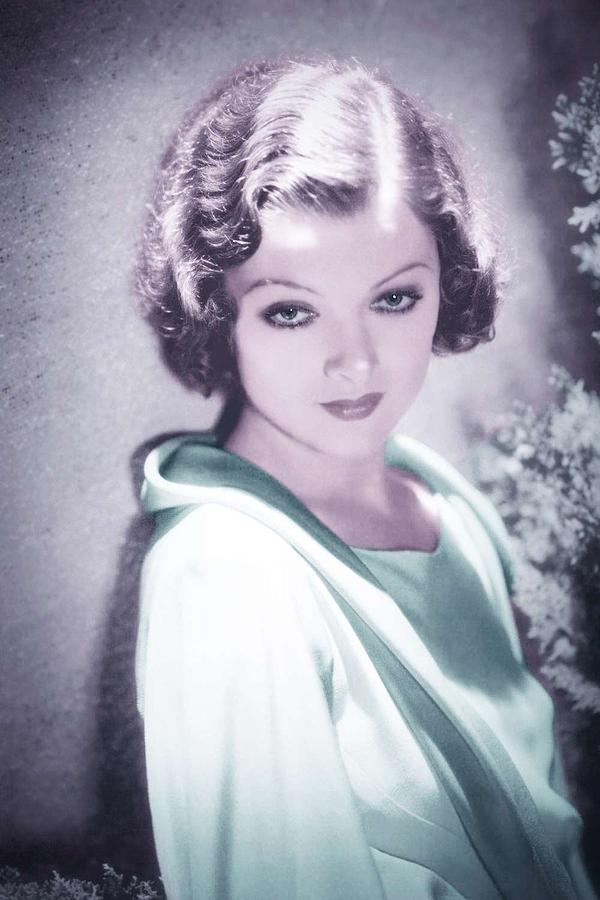 Girl Painting - Myrna Loy - 1932 Infrared Art By Ahmet Asar by Ahmet Asar