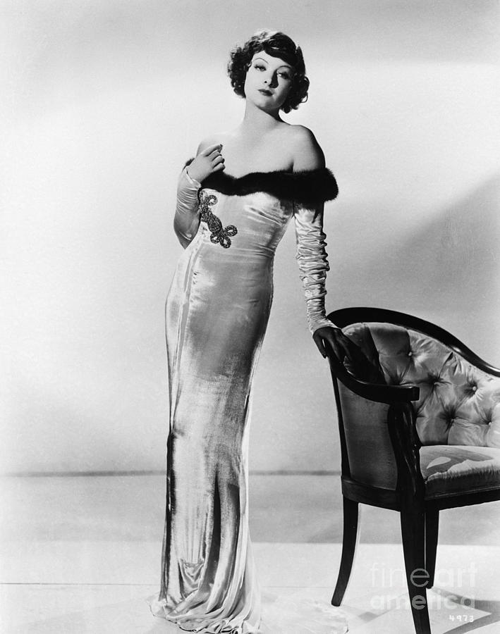 Myrna Loy In Glamorous Velvet Gown Photograph by Bettmann