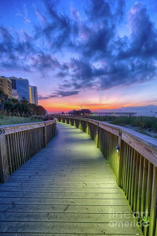 Myrtle Beach Boardwalk Sunrise by David Smith