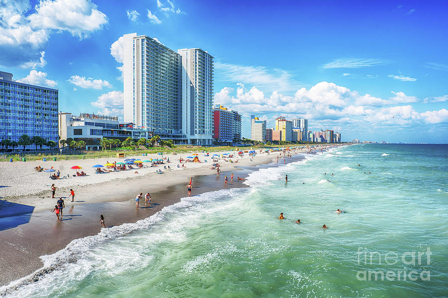 Myrtle Beach Looking North by David Smith